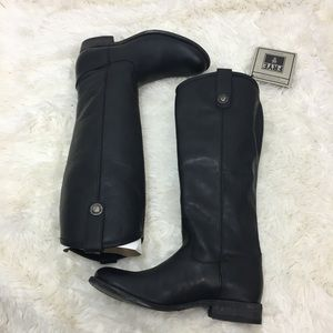 NWT Frye Melissa tall leather riding boots black 6